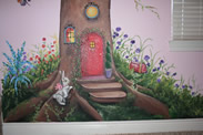 Baby Tree House Mural close up