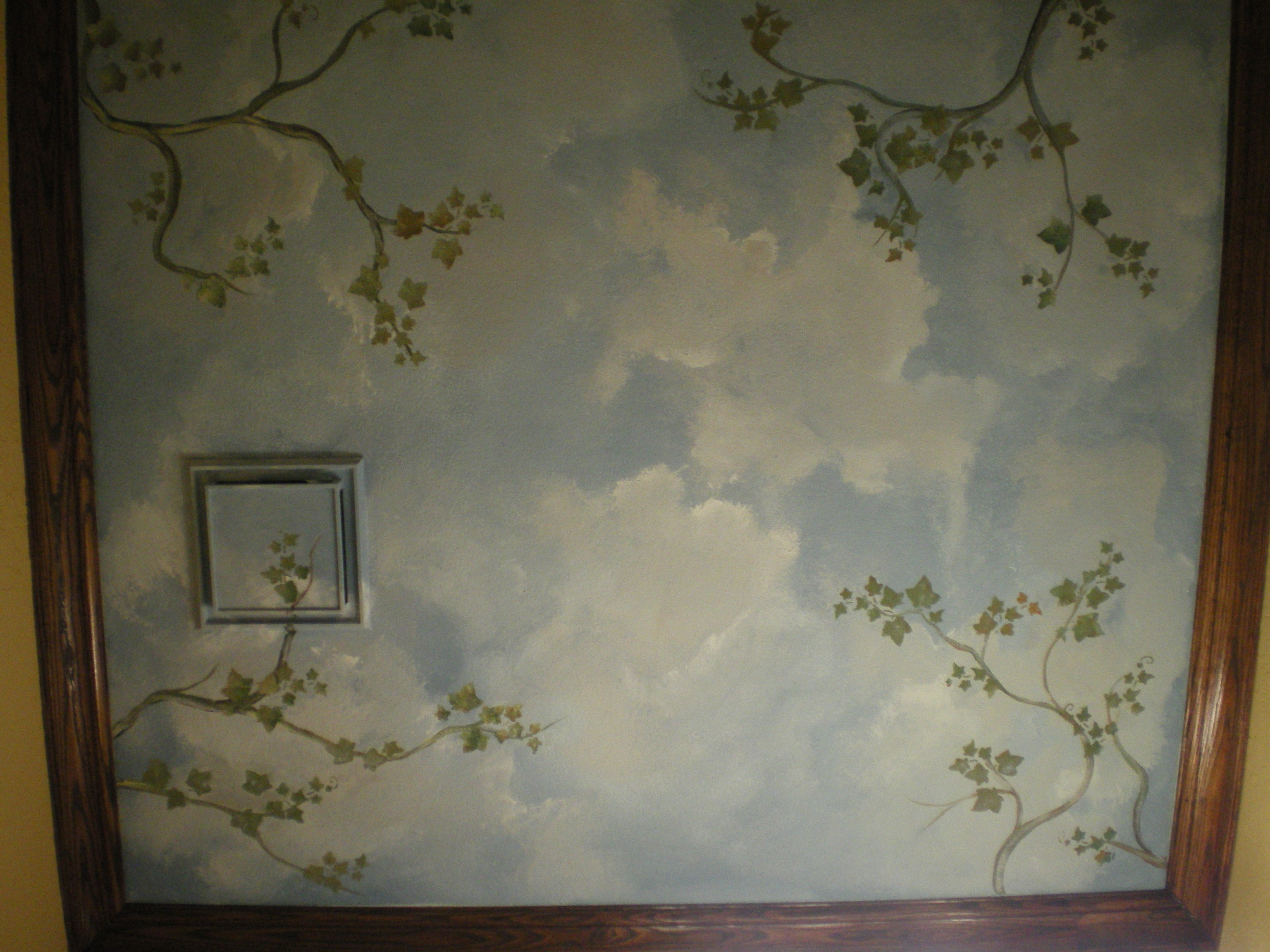 Cool cloud murals ceilings photos best idea home design for How to make clouds on ceiling