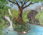 Jungle Themed Children Wall Mural