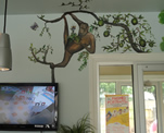 Pre School Front Office Jungle Mural