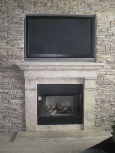 faux fireplace tx custom mural painting texas san