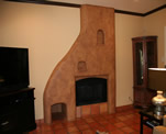 Santa Fe Style Fireplace Faux Finish