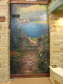 Mediterranean Lake View Mural (Right Side)
