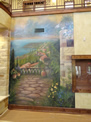 Mediterranean Lake View Mural (Left Side)
