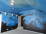 Under Ocean Life Mural Painted in a Playroom